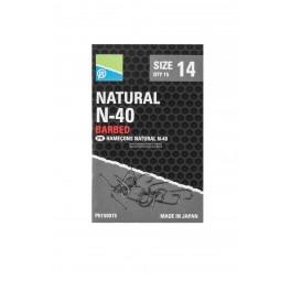 Preston Natural Hooks N-40