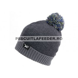 Matrix Bobble Hat - Grey / Lime