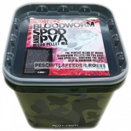 Pelete Bait-Tech Camo Bucket Bloodworm Spod & PVA Micro Pellet Mix