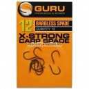 Carlige GURU X-Strong Hooks Spade End Barbless