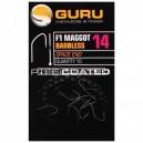 Guru F1 Maggot Hooks Barbless
