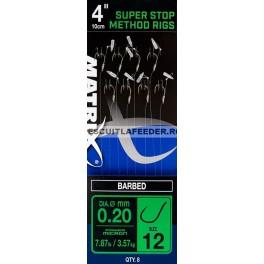 Carlige Legate Matrix Super Stop Method Rigs Cu Barbeta