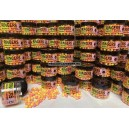 Wafters Ringers Chocolate Orange Yellow & Pink Washout 10mm/70g