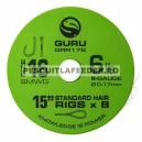 Carlige Legate Guru SMWG Standard Hair Rig Barbless Nr 16 Rola