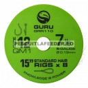 Carlige Legate Guru QM1 Standard Hair Rig Barbless Nr 12 Rola