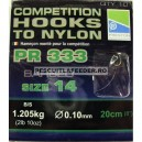 Preston Competition Hooks 333 To Nylon 20cm
