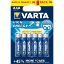 Baterie alcalina VARTA High energy LR03/AAA (LR03/AAA) Baterie alcalina