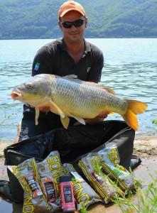 Captura si peletele responsabile de atragerea crapului de Dunare in zona carligului